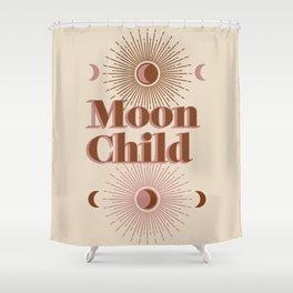 Vintage Moon Child Shower Curtain