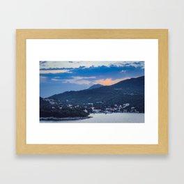 Dubrovnik Sunset II Framed Art Print