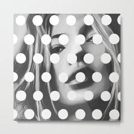 Kate Moss x Dots by Moe Notsu Metal Print
