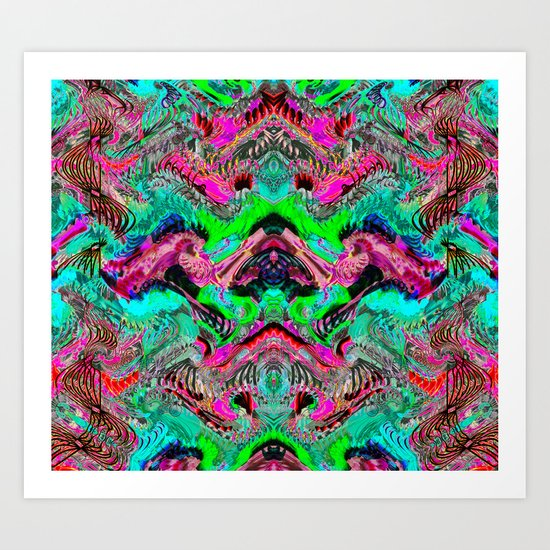 Tulip Trails 2 B Art Print