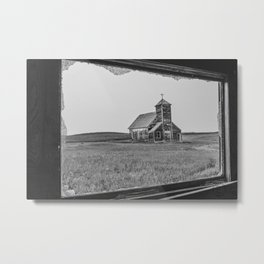 St.John's as Seen from the Yellow House, Arena, ND 4 Metal Print