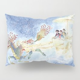 The Chinese Magic Creature (Chi Lin), The Light Charriot and the Three Children - Dragon Pillow Sham