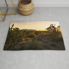 Sunset Scene at the Desert Rug