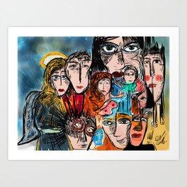 Réunion de famille Art Print