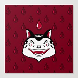 Count Dracula Von Kitteh Canvas Print
