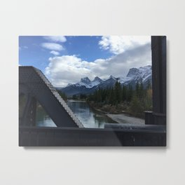 The Three Sisters, Canmore, Canada  Metal Print