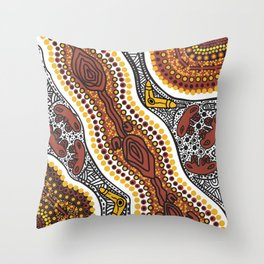 Walk about - Dry Country Throw Pillow