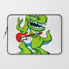 Dino rock plays a guitar. Laptop Sleeve