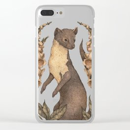 The Marten and Foxglove Clear iPhone Case