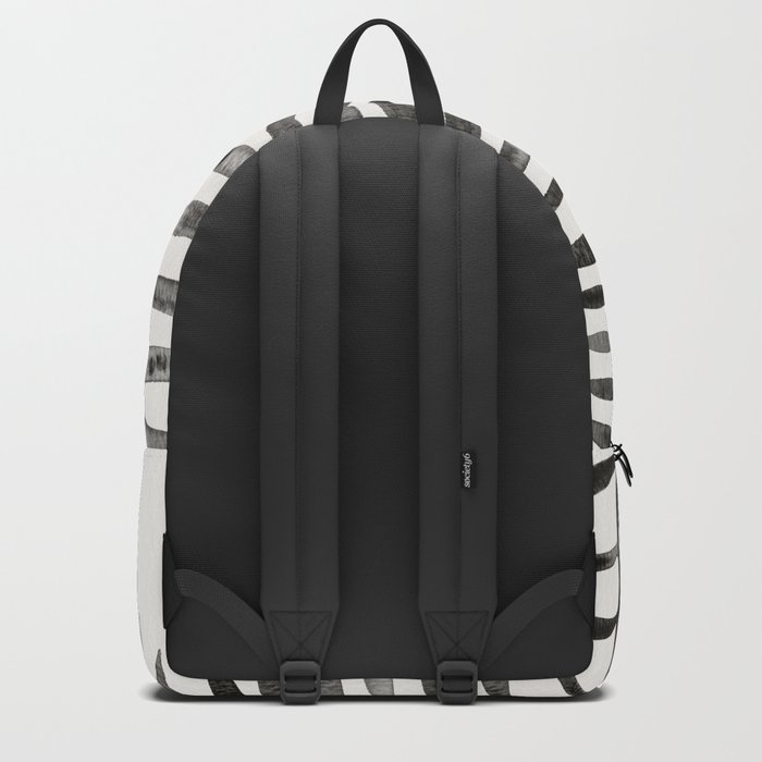 Black Palm Leaf Backpack