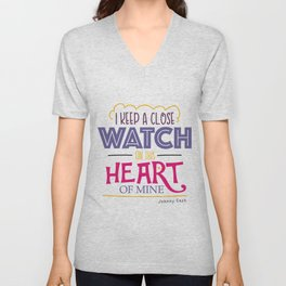 I Keep A Close Watch On This Heart Of Mine - Johnny Cash Unisex V-Neck
