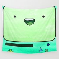 bmo Wall Tapestries featuring BMO by Some_Designs