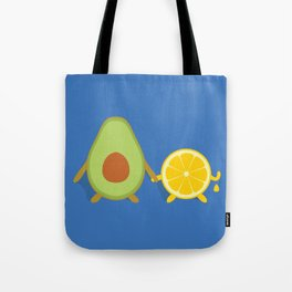 Avocado & Lemon Tote Bag