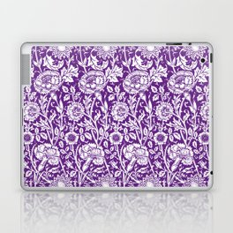 "William Morris Floral Pattern | ""Pink and Rose"" in Purple and White Laptop & iPad Skin"