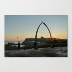 Whitby Whalebone Golden Hour Canvas Print