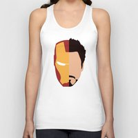 stark Tank Tops featuring Iron Stark by Nick Kemp
