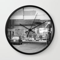 stephen king Wall Clocks featuring Stephen Avenue by RMK Photography