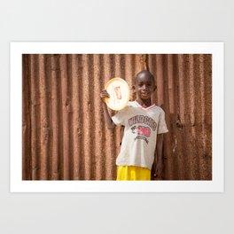 Frisbee boy Art Print