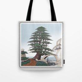 CEDAR OF LEBANON PEN AND PENCIL DRAWING Tote Bag
