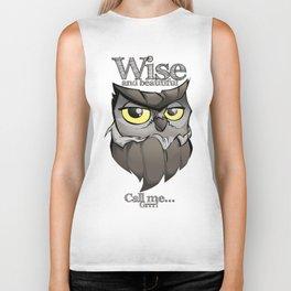 OWL! Wise and beautiful Biker Tank