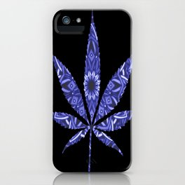Weed : High Times Blue Floral iPhone Case