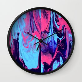 Paint Pouring 27 Wall Clock