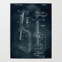 1937 - C-Clamp type hand tool Poster