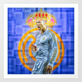 CR7 KING Art Print