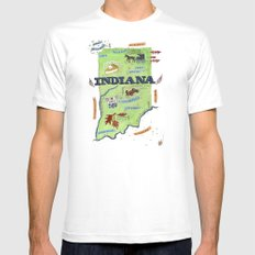 INDIANA Mens Fitted Tee MEDIUM White
