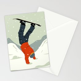 Snowboarding Stationery Cards