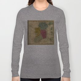 Vintage Map of Ireland (1808) Long Sleeve T-shirt