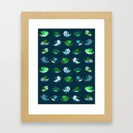 Spring Time Birds Framed Art Print