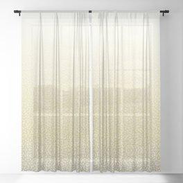 Gradient yellow and white swirls doodles Sheer Curtain