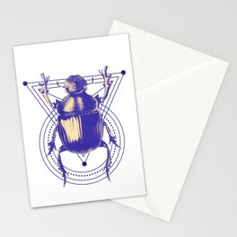 Beetle and geometric Stationery Cards