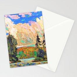 12,000pixel-500dpi - Tom Thomson - Black Spruce in Autumn - Digital Remastered Edition Stationery Cards