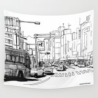 tokyo Wall Tapestries featuring Tokyo by Jonas Ericson