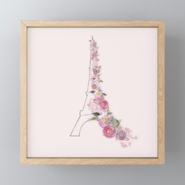 Paris in Flower Love Framed Mini Art Print