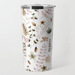 Herbarium white Travel Mug