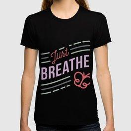 Just Breathe Cystic Fibrosis Warrior product CF Awareness  print T-shirt