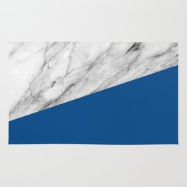Marble and Lapis Blue Color Rug
