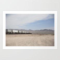 Vidal Train Crossing Art Print