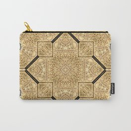 Victorian Art Deco Medieval Pattern brown SB19 Carry-All Pouch