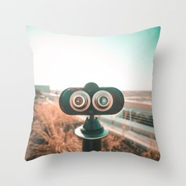 Rooftop Scopes Throw Pillow