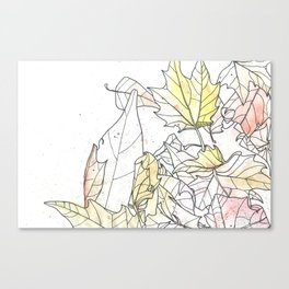 Autumn Leaves Watercolor Canvas Print