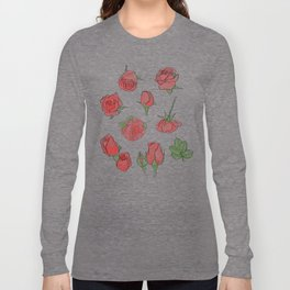 Watercolor Roses Long Sleeve T-shirt