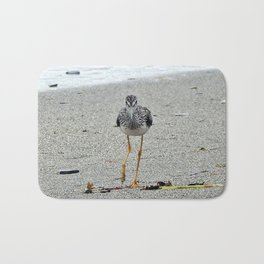 Greater Yellowlegs (Sandpiper) Looking at Camera  Bath Mat