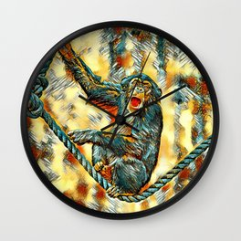 AnimalArt_Chimpanzee_20170901_by_JAMColorsSpecial Wall Clock