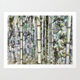 Bamboo grove in a botanical garden Art Print