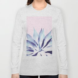 Solar Agave - Pastel blue on pink Long Sleeve T-shirt