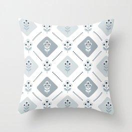 SCANDI grey-blue 01 Throw Pillow